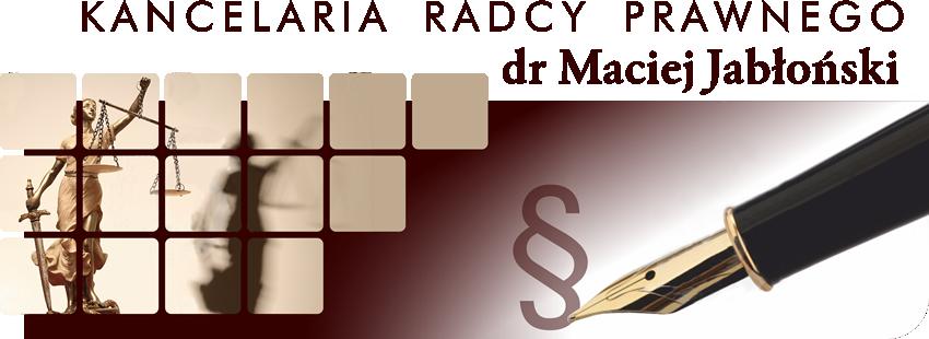 Logo Kancelaria Radcy Prawnego dr Maciej Jabłoński